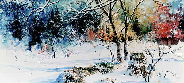 First Snowfall Painting